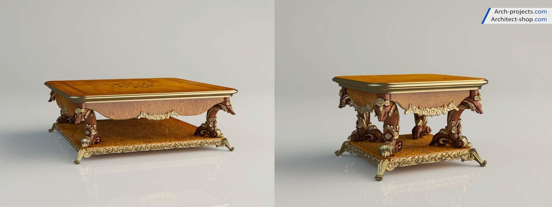 دانلود آبجکت میز کلاسیک