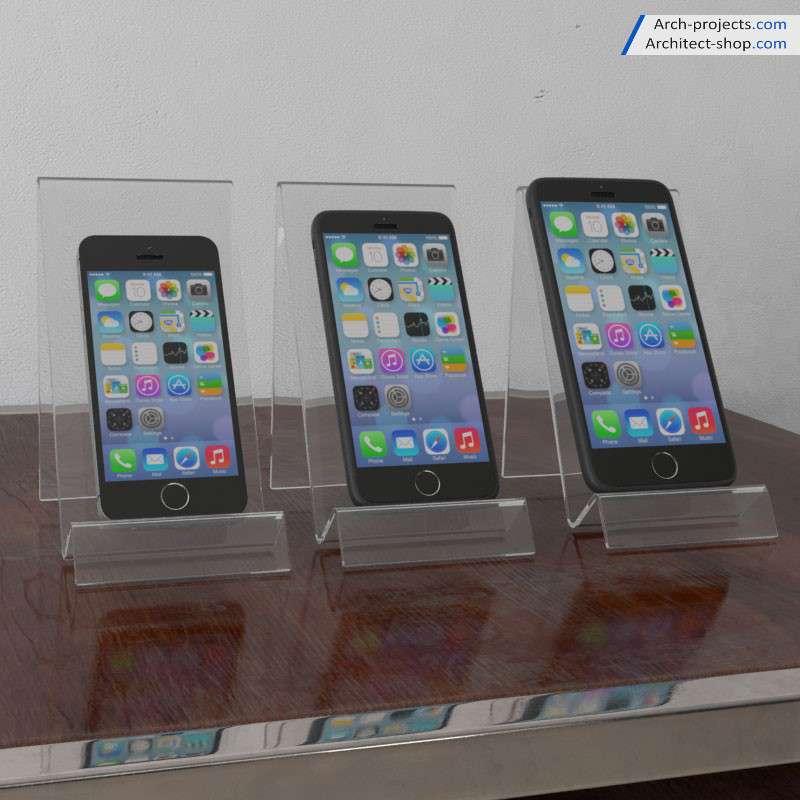 مدل سه بعدی موبایل