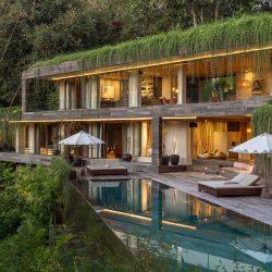 طراحی ویلای سبز در اندونزی