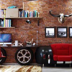 ایده های طراحی 20 نمونه دفتر کار خانگی به سبک صنعتی