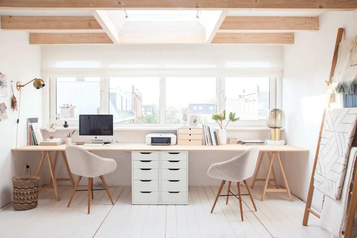 طراحی دفتر کار خانگی مینیمال