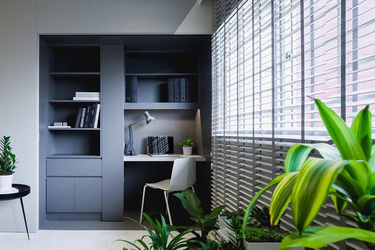 طراحی داخلی دفتر کار خانگی مینیمال