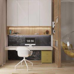 طراحی داخلی دفتر کار خانگی به سبک مینیمال