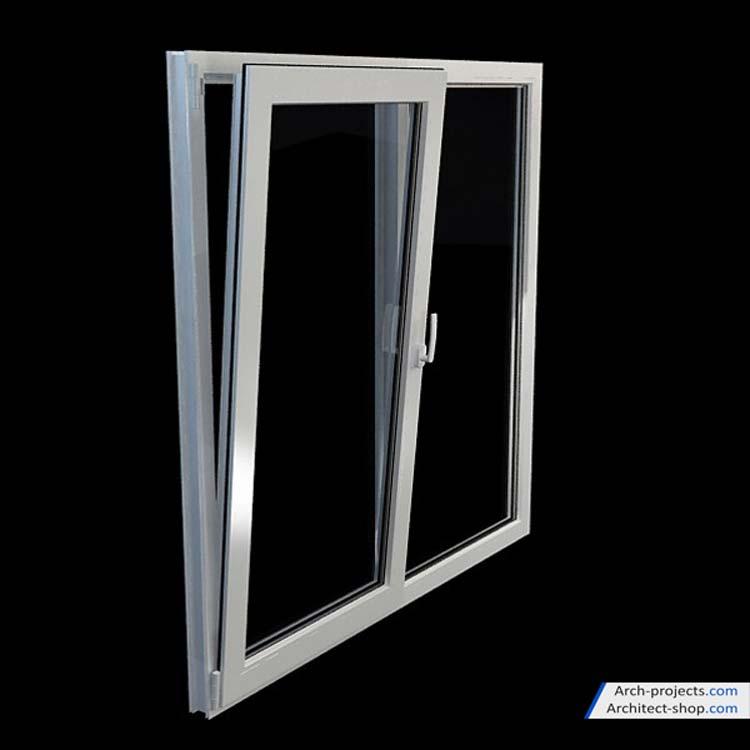 مدل سه بعدی پنجره