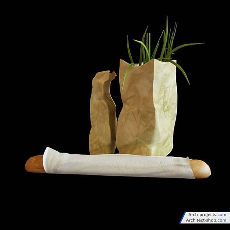 مدل سه بعدی مواد غذایی