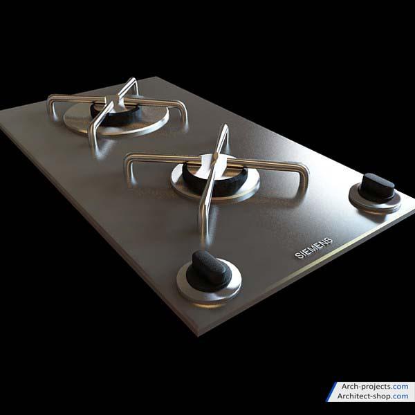 دانلود مدل سه بعدی وسایل آشپزخانه