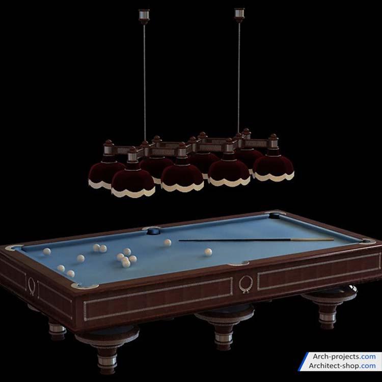 مدل سه بعدی میز بیلیارد