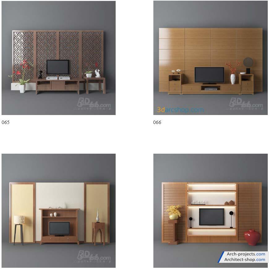 دانلود مدل سه بعدی میز تلویزیون
