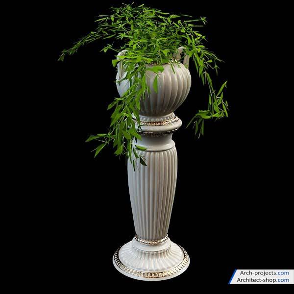 مجموعه مدل سه بعدی گلدان