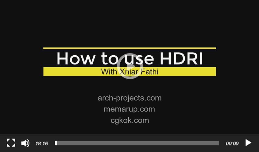 آموزش استفاده از HDRI