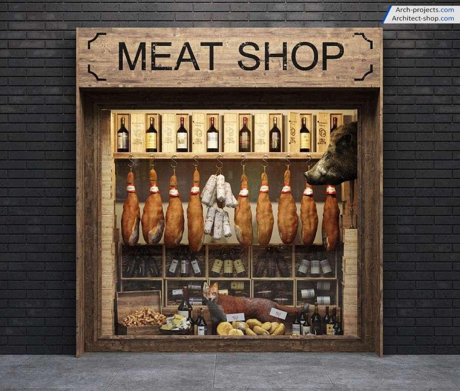 دانلود آرچ مدل 198 - مدل سه بعدی ویترین فروشگاه و مغازه