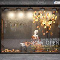 مدل سه بعدی ویترین فروشگاه