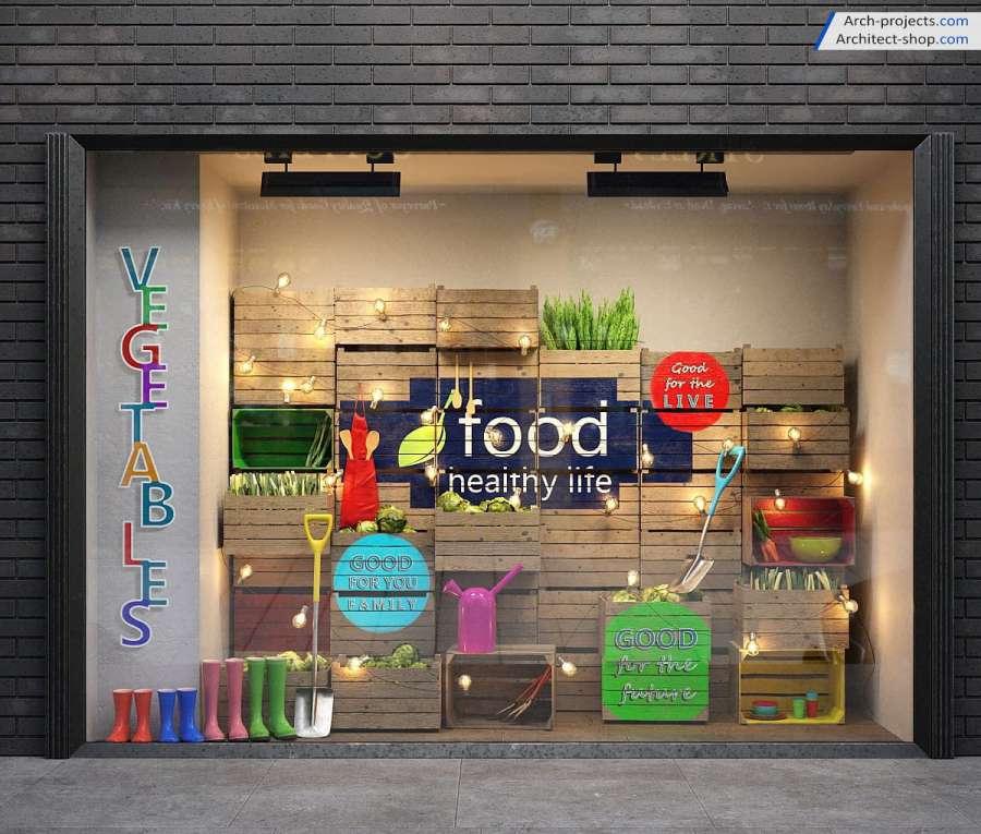 آبجکت ویترین مغازه