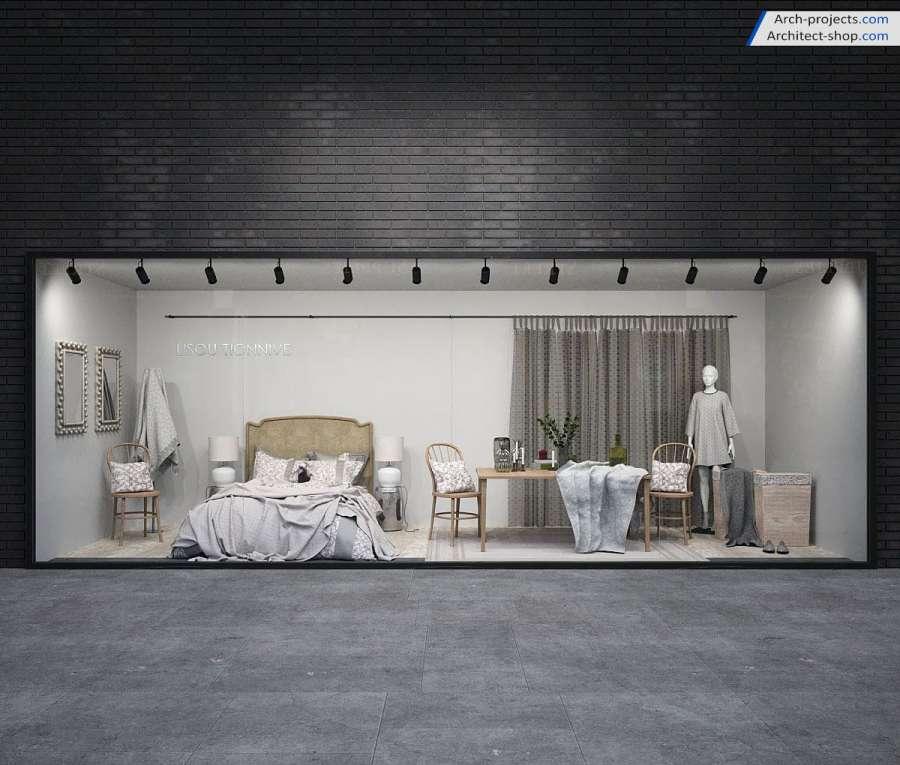 مدل سه بعدی فروشگاه و مغازه