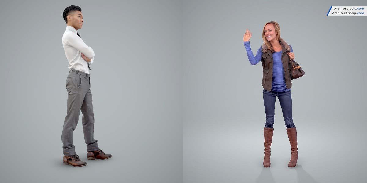 مدل سه بعدی انسان در حالت های مختلف