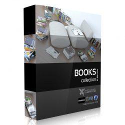 دانلود مجموعه مدل سه بعدی کتاب