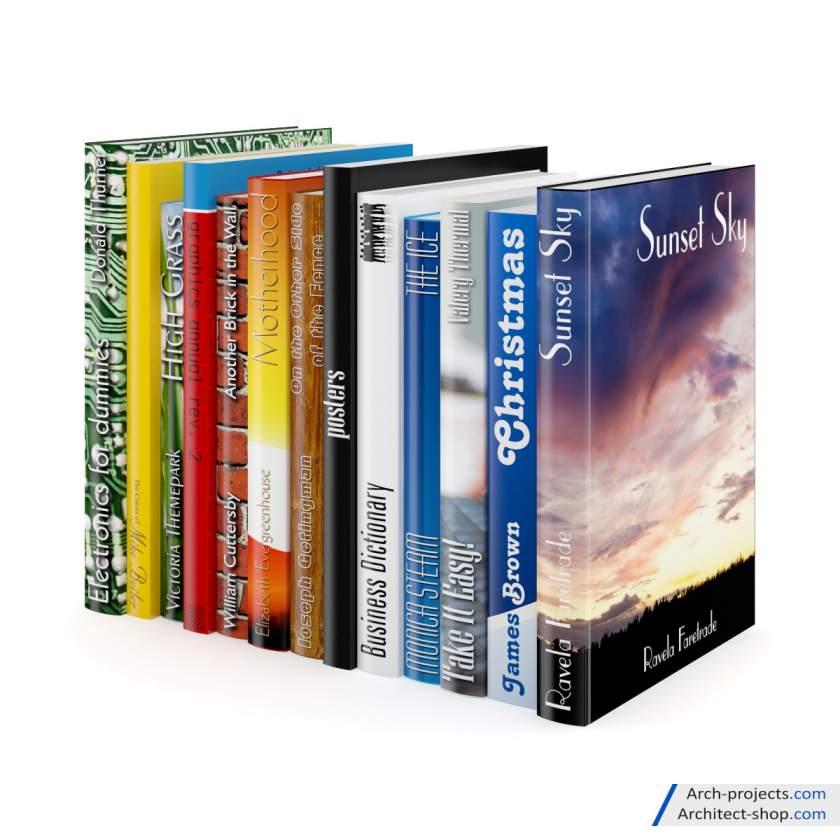 مجموعه مدل سه بعدی کتاب