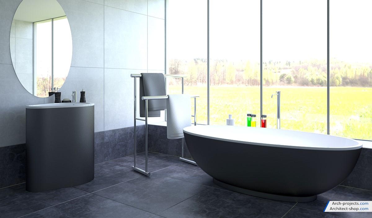مجموعه مدل سه بعدی لوازم حمام