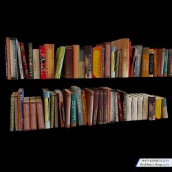 مدل سه بعدی قاب عکس و کتاب