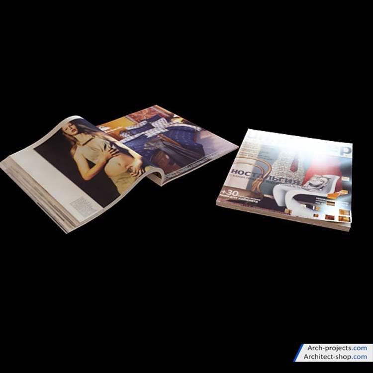 مدل سه بعدی مجله