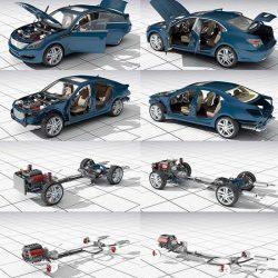 دانلود مدل سه بعدی جزئیات ماشین