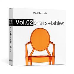 دانلود مجموعه آبجکت میز و صندلی مدرن