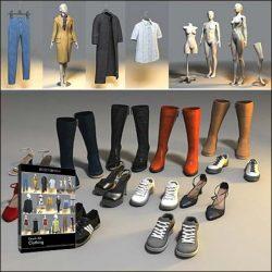 دانلود مدل سه بعدی لباس و کفش