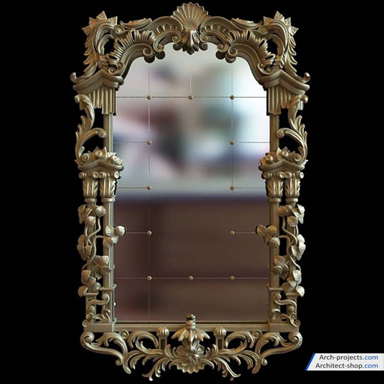 مدل سه بعدی آینه