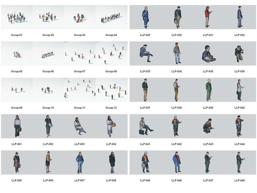 دانلود رایگان مدل سه بعدی انسان لاو پولی