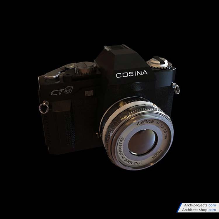 مدل سه بعدی دوربین عکاسی