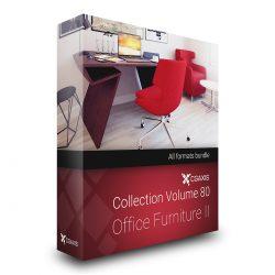 دانلود مجموعه مدل سه بعدی میز و صندلی اداری