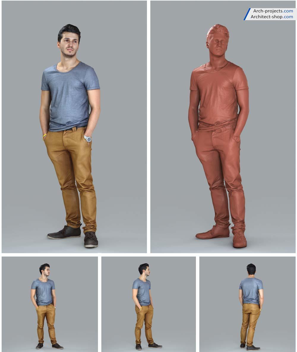 آبجکت سه بعدی انسان