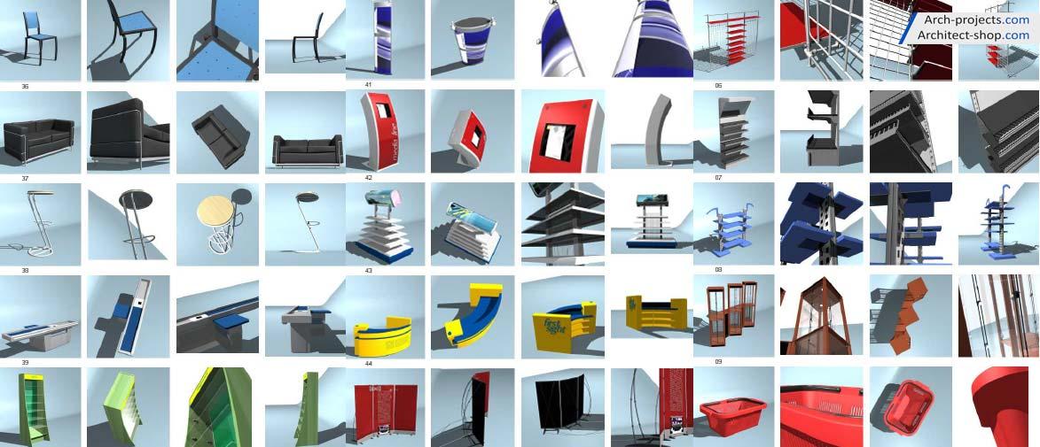 دانلود مدل سه بعدی وسایل فروشگاه