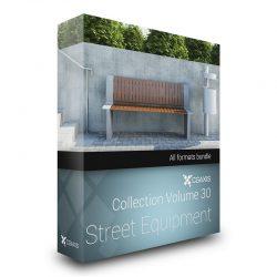 دانلود مجموعه مدل سه بعدی لوازم خیابان