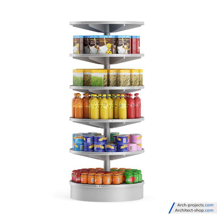 مدل سه بعدی سوپرمارکت