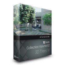 دانلود مجموعه آبجکت درخت از CGAxis