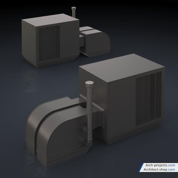 مدل سه بعدی لوازم پشت بام