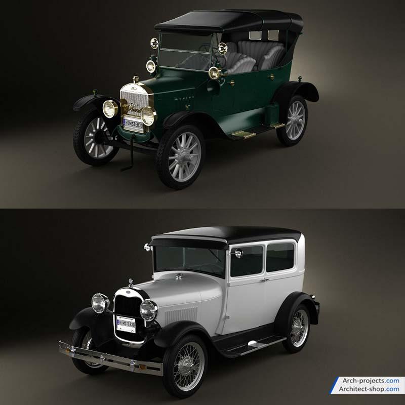 مدل سه بعدی ماشین کلاسیک