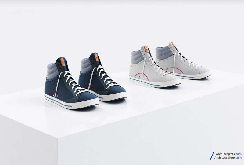 مدل سه بعدی کفش