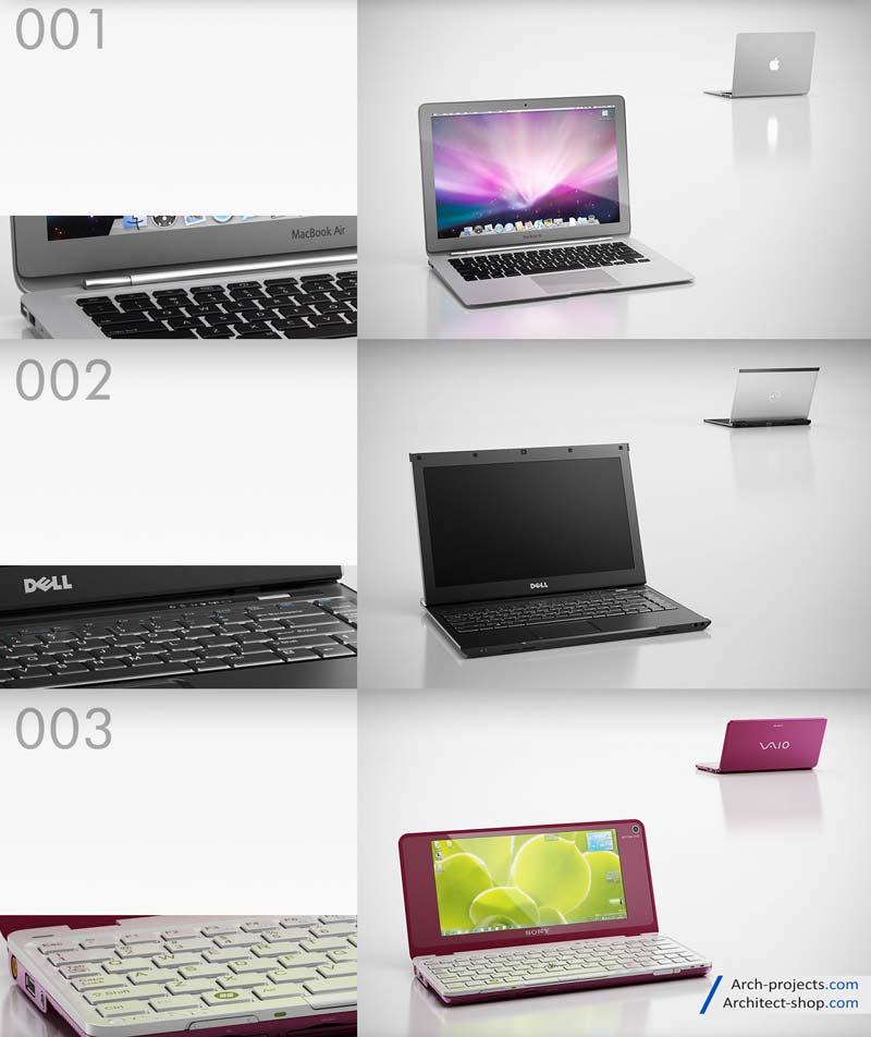 دانلود مدل سه بعدی لپ تاپ