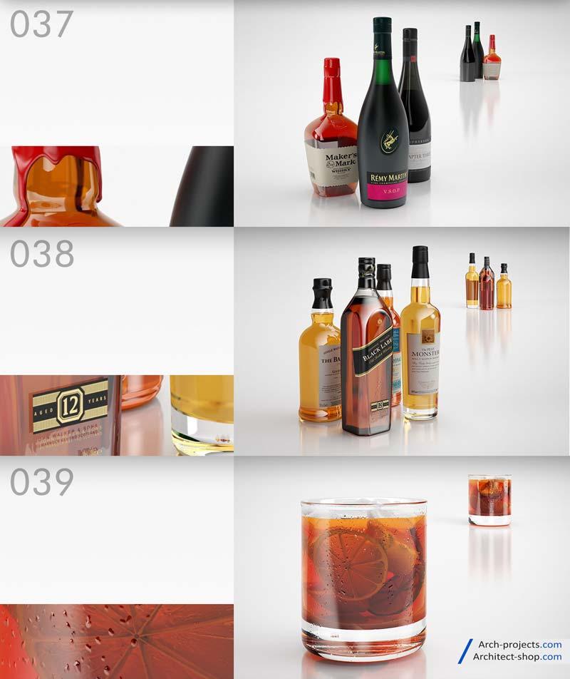 مدل سه بعدی بطری