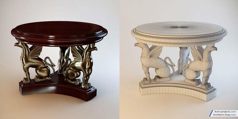 آبجکت میز کلاسیک