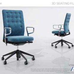 دانلود رایگان مدل سه بعدی صندلی اداری