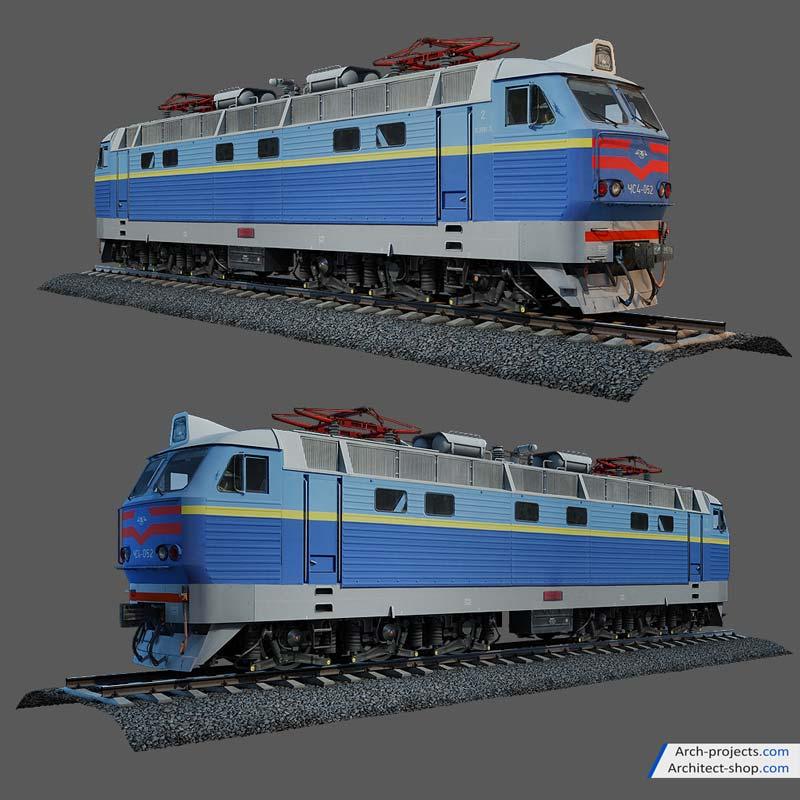 دانلود مدل سه بعدی قطار