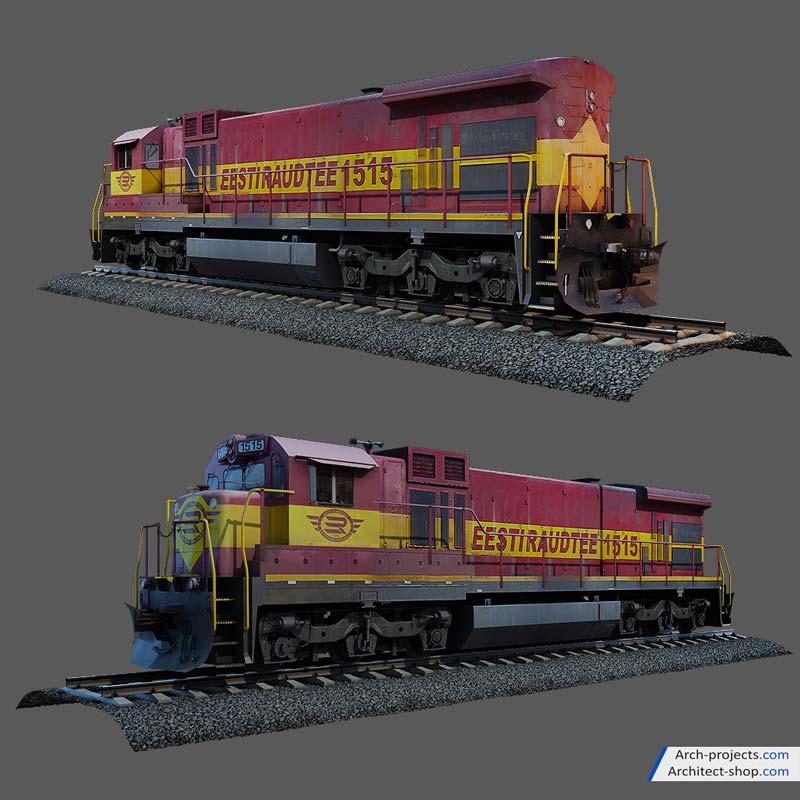 مدل سه بعدی قطار