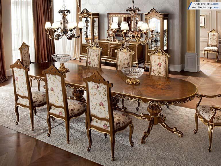 مدل سه بعدی میز و صندلی کلاسیک