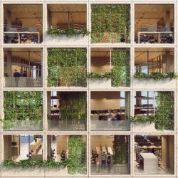 طراحی ساختمان اداری با نمای پیکسلی