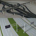 دانلود مدل سه بعدی پل و جاده