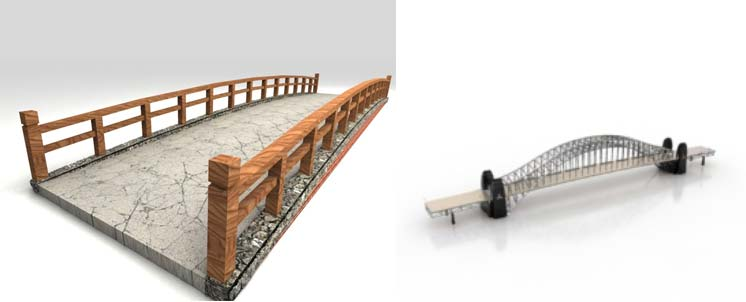 مدل سه بعدی پل