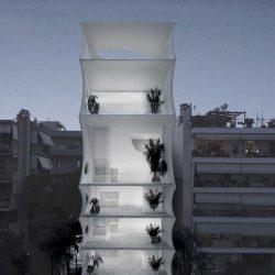طراحی برج مسکونی سبک وزن در ساحل جنوبی آتن